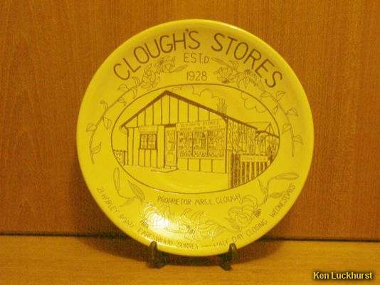 Clough's Stores Plate