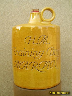 Sgraffito Brig Flagon