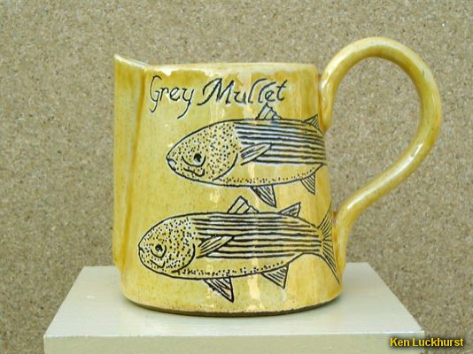 Sgraffito Milk Jug