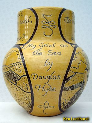Sgraffito Poem Vase