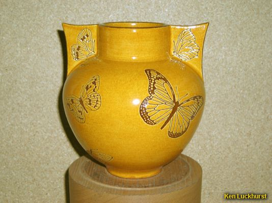 Winged Butterfly Vase
