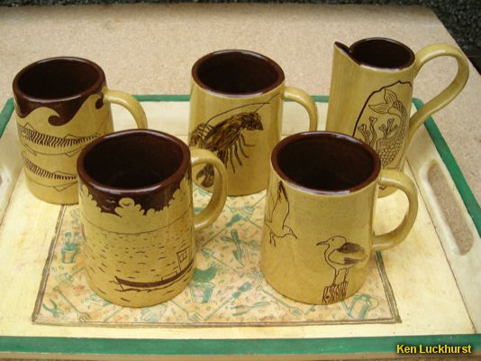 Mugs with Milk Jug